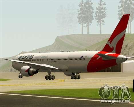 Boeing 767-300ER Qantas (New Colors) pour GTA San Andreas vue intérieure