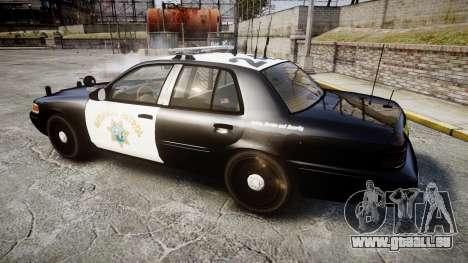 Ford Crown Victoria CHP CVPI Liberty [ELS] pour GTA 4 est une gauche