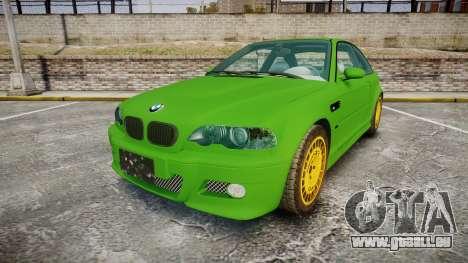 BMW M3 E46 2001 Tuned Wheel Gold pour GTA 4