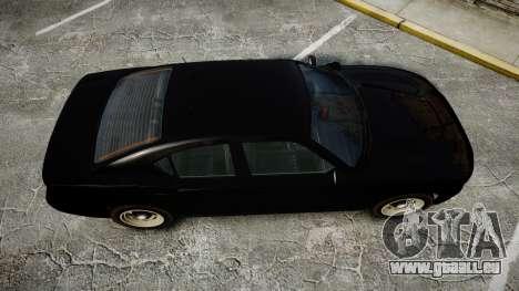 GTA V Bravado Buffalo Unmarked [ELS] Slicktop für GTA 4 rechte Ansicht