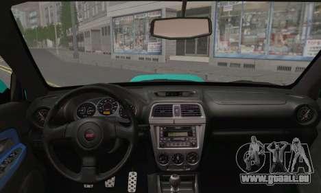 Subaru Impreza RC pour GTA San Andreas sur la vue arrière gauche