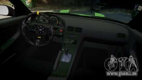 Nissan 240SX S13 Tuned pour GTA 4 est une vue de l'intérieur
