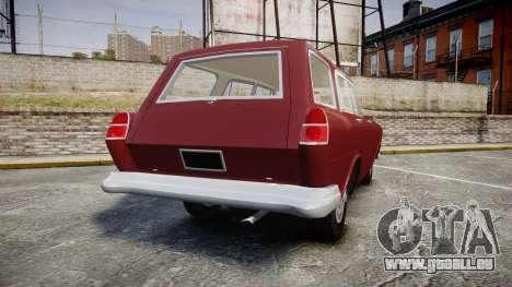 FSO Warszawa Ghia Kombi 1959 pour GTA 4 Vue arrière de la gauche