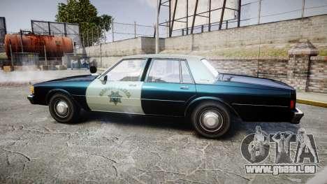 Chevrolet Caprice 1986 Brougham Police [ELS] pour GTA 4 est une gauche