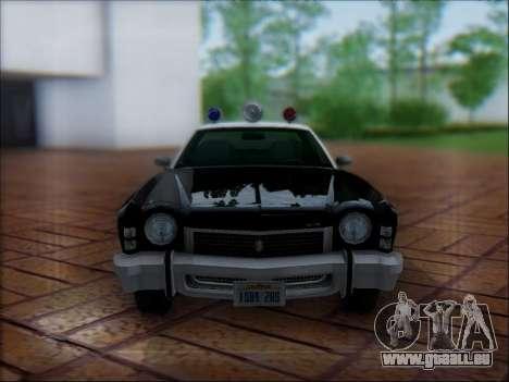 Chevrolet Monte Carlo 1973 Police pour GTA San Andreas vue de dessus
