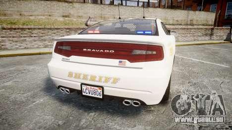 GTA V Bravado Buffalo LS Sheriff White [ELS] Sli pour GTA 4 Vue arrière de la gauche