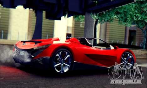 Specter Roadster 2013 (SA Plate) pour GTA San Andreas laissé vue