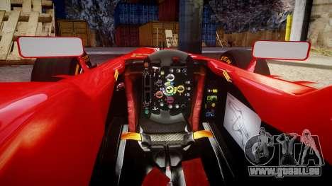 Ferrari F138 v2.0 [RIV] Massa THD pour GTA 4 est une vue de l'intérieur