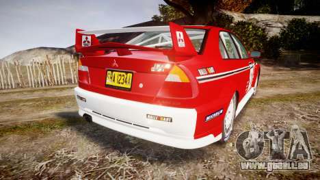 Mitsubishi Lancer Evolution VI 2000 Rally für GTA 4 hinten links Ansicht