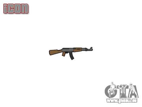 АК-47 graffiti camo pour GTA 4 troisième écran