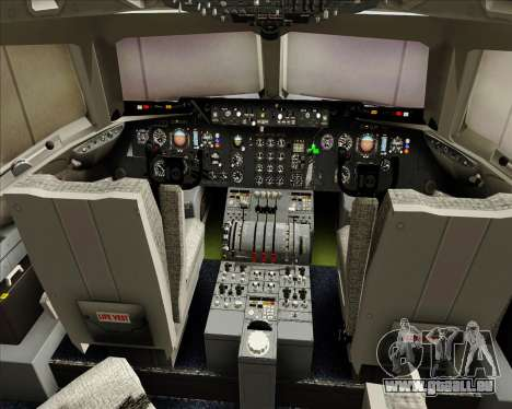 McDonnell Douglas DC-10-30 World Airways für GTA San Andreas Innen