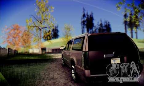 Cadillac Escalade Ninja für GTA San Andreas zurück linke Ansicht