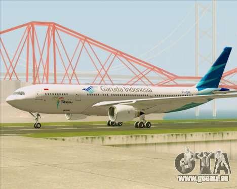 Airbus A330-243 Garuda Indonesia für GTA San Andreas zurück linke Ansicht