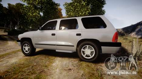 Dodge Durango 2000 Undercover [ELS] pour GTA 4 est une gauche