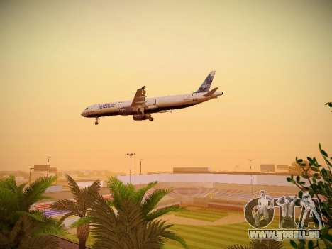 Airbus A321-232 jetBlue La vie en Blue für GTA San Andreas obere Ansicht