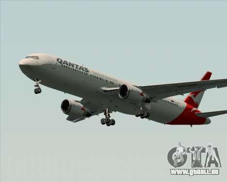 Boeing 767-300ER Qantas (New Colors) pour GTA San Andreas sur la vue arrière gauche