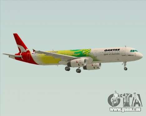 Airbus A321-200 Qantas (Socceroos Livery) pour GTA San Andreas vue de dessous