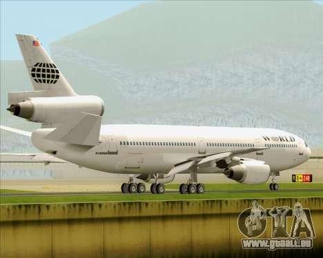 McDonnell Douglas DC-10-30 World Airways für GTA San Andreas Unteransicht