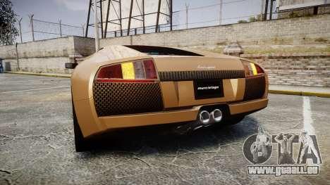 Lamborghini Murcielago 2005 pour GTA 4 Vue arrière de la gauche