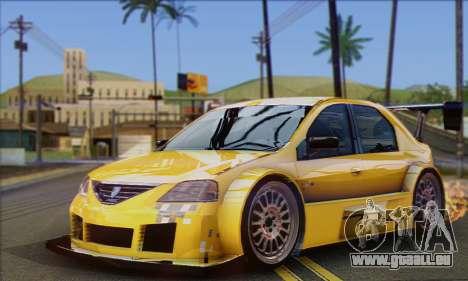 Dacia Logan Trophy Edition 2005 pour GTA San Andreas vue intérieure