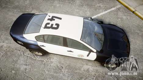 GTA V Cheval Fugitive LS Police [ELS] Slicktop für GTA 4 rechte Ansicht