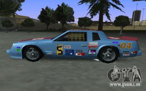 De nouveaux autocollants et non Hotring pour GTA San Andreas vue de côté