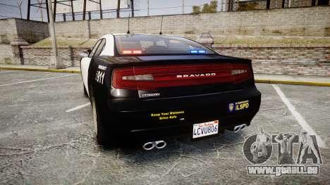 GTA V Bravado Buffalo LS Police [ELS] Slicktop pour GTA 4 Vue arrière de la gauche