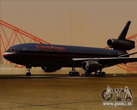 McDonnell Douglas DC-10-30 American Airlines pour GTA San Andreas sur la vue arrière gauche