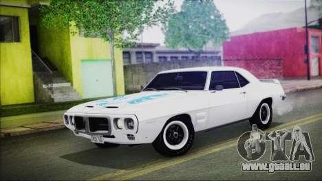 Pontiac Firebird Trans Am Coupe (2337) 1969 für GTA San Andreas obere Ansicht