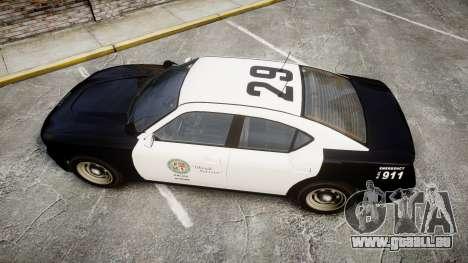 GTA V Bravado Buffalo LS Police [ELS] Slicktop für GTA 4 rechte Ansicht