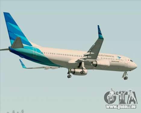 Boeing 737-800 Garuda Indonesia für GTA San Andreas Seitenansicht
