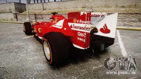 Ferrari F138 v2.0 [RIV] Massa THD pour GTA 4 Vue arrière de la gauche