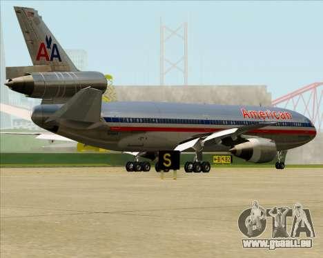 McDonnell Douglas DC-10-30 American Airlines pour GTA San Andreas vue de dessous