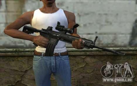 HK416 (Bump mapping) v2 für GTA San Andreas dritten Screenshot