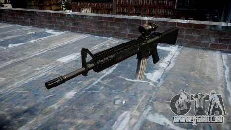Gewehr M16A4 ACOG Ziel für GTA 4