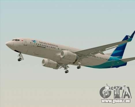 Boeing 737-800 Garuda Indonesia für GTA San Andreas Innenansicht