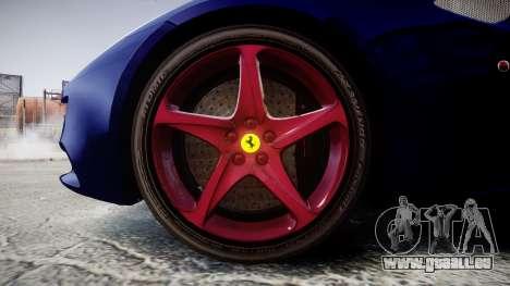 Ferrari FF 2012 Pininfarina Blue für GTA 4 Rückansicht