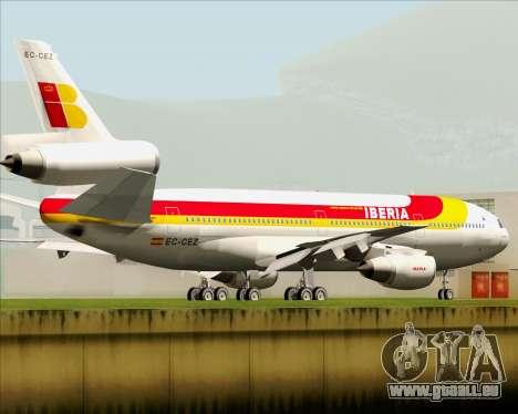 McDonnell Douglas DC-10-30 Iberia pour GTA San Andreas sur la vue arrière gauche