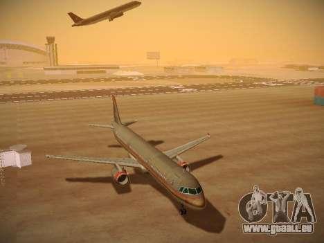 Airbus A321-232 Royal Jordanian Airlines für GTA San Andreas Rückansicht