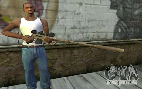 Fusil De Sniper Cheytac M200 Intervention pour GTA San Andreas troisième écran