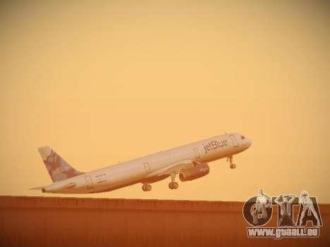 Airbus A321-232 jetBlue La vie en Blue pour GTA San Andreas vue de dessous