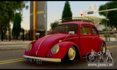 Volkswagen Beetle pour GTA San Andreas