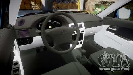 VAZ-2170 Priora Trucs pour GTA 4 est une vue de l'intérieur