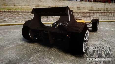Caparo T1 pour GTA 4 Vue arrière de la gauche