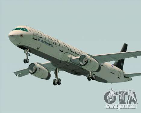 Airbus A321-200 Air New Zealand (Star Alliance) pour GTA San Andreas vue intérieure