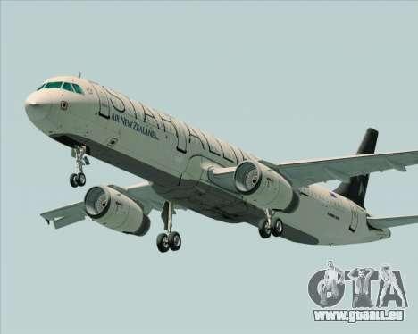 Airbus A321-200 Air New Zealand (Star Alliance) für GTA San Andreas Innenansicht
