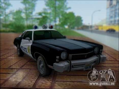 Chevrolet Monte Carlo 1973 Police für GTA San Andreas Seitenansicht