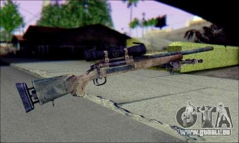 M24Jar fusil de Sniper de SGW2 pour GTA San Andreas deuxième écran
