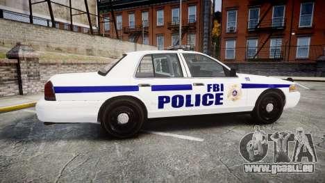 Ford Crown Victoria F.B.I. Police [ELS] pour GTA 4 est une gauche
