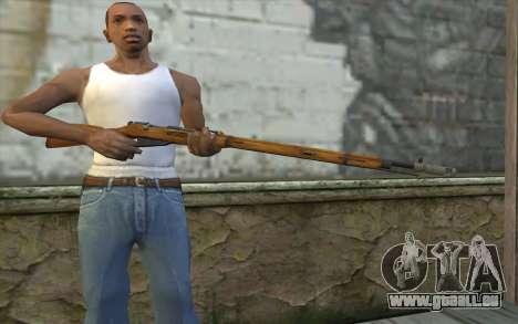 Mosin-v5 pour GTA San Andreas troisième écran